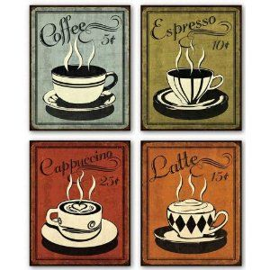 Retro coffee prints