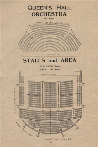 Queen S Hall Seating Plan Orchestra Stalls Concert Hall Langham