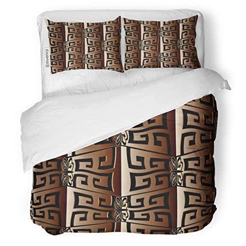 Sanchic Duvet Cover Set Geometric Greek Key Modern Abstract - Geometrical-shapes-on-bedding