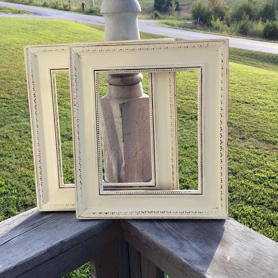 Two Off White Distressed Picture Frames Distressed Reclaimed
