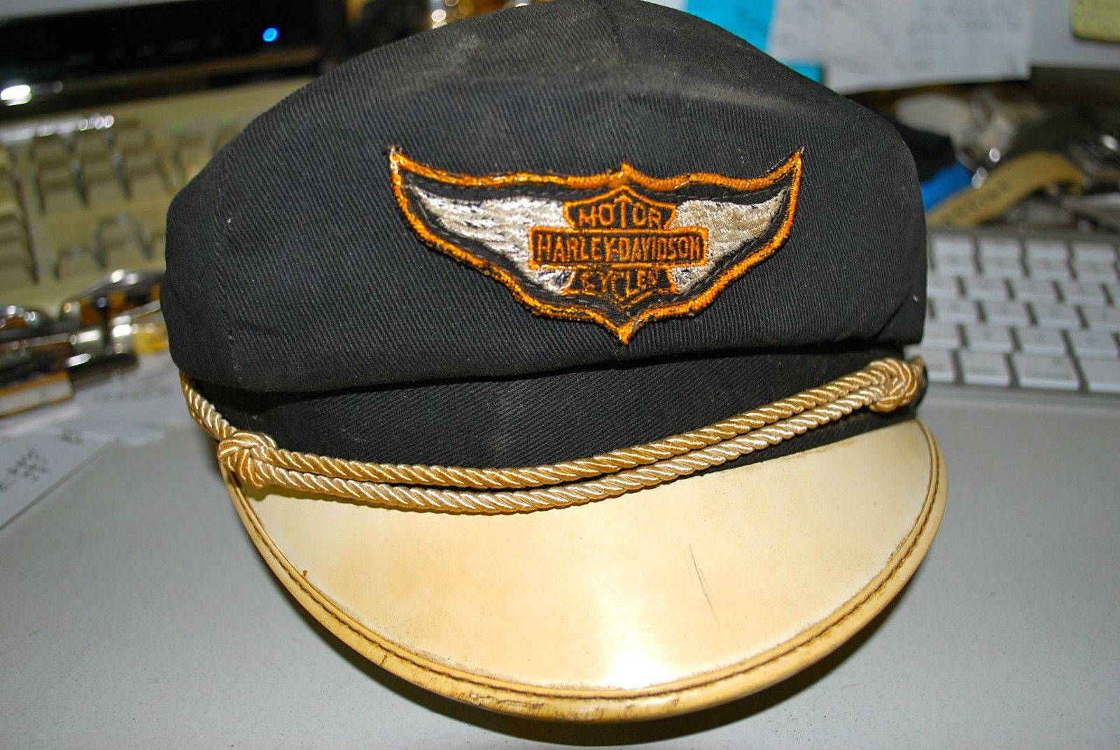Vintage Harley Davidson Motorcycle Hat