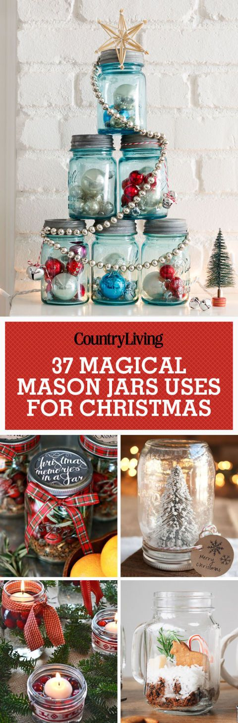 Easy Mason Jar Christmas Crafts That Are Just As Pretty As They Are Fun To Make Mason Jar Christmas Crafts Christmas Mason Jars Christmas Jars