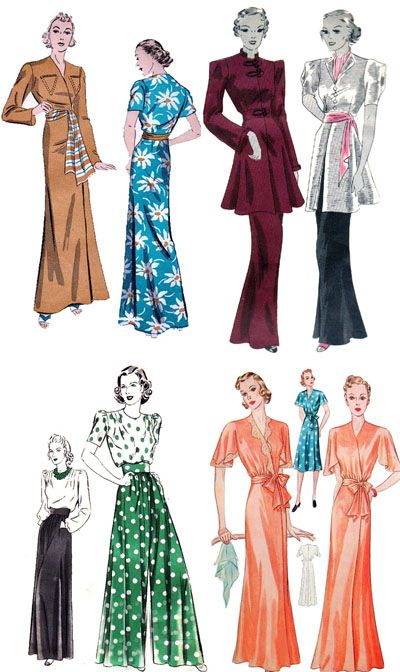 Vintage Patterns From The 1930 S And 1940 S For Loungewear