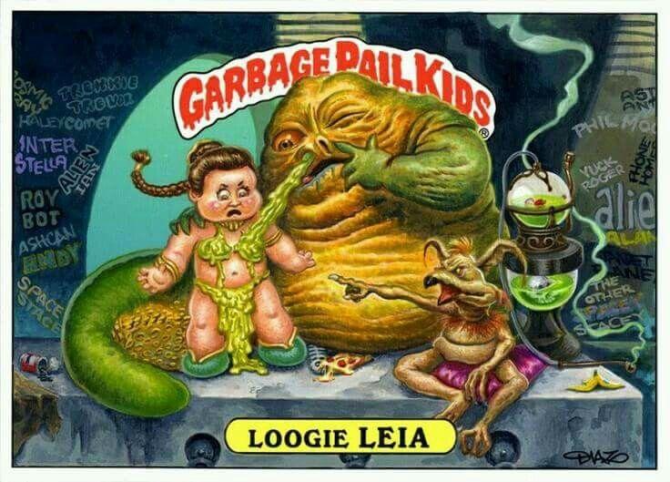 Garbage pail kids. Loogie Leia.