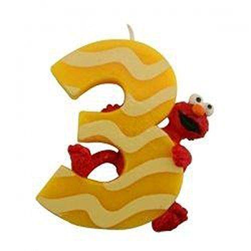 Sesame Street Elmo 3rd Birthday Cake Candle Cake Decorating http