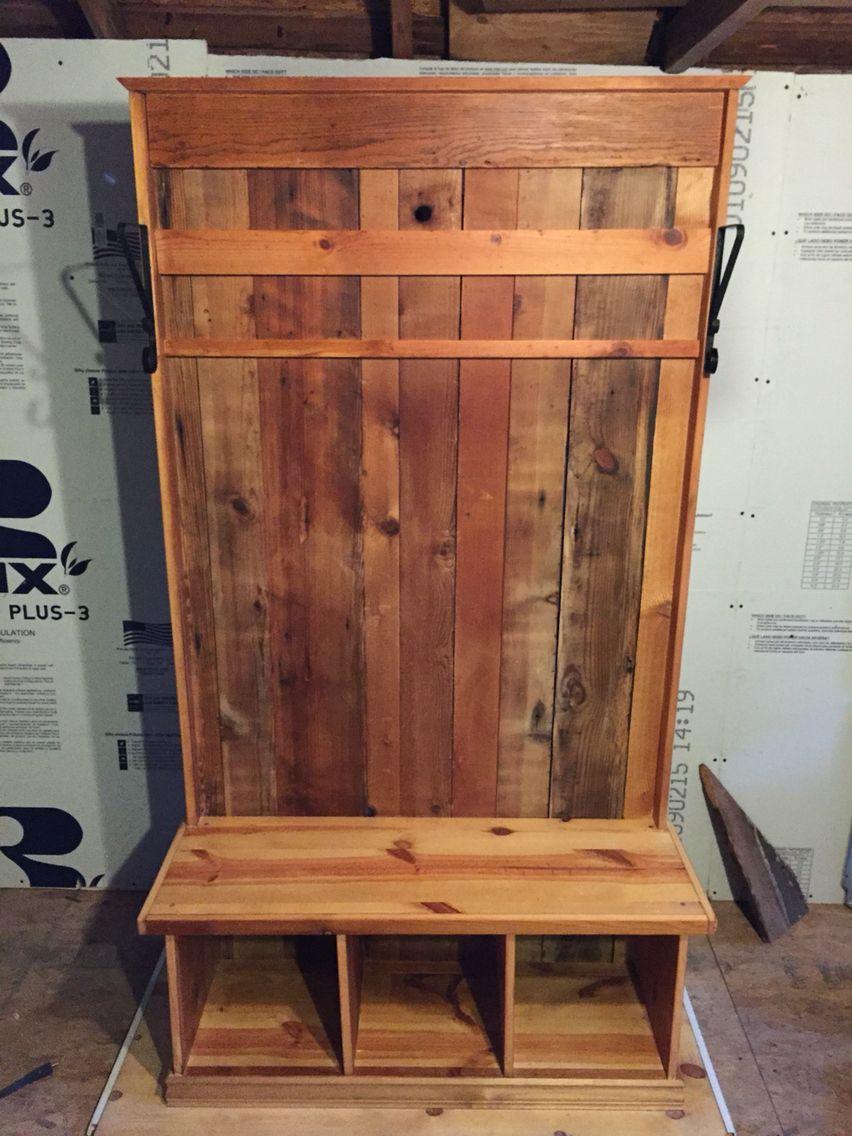 Reclaimed Wood Hall Tree G Gallery Okc Hall Tree Storage Bench Wood Design Concrete Design