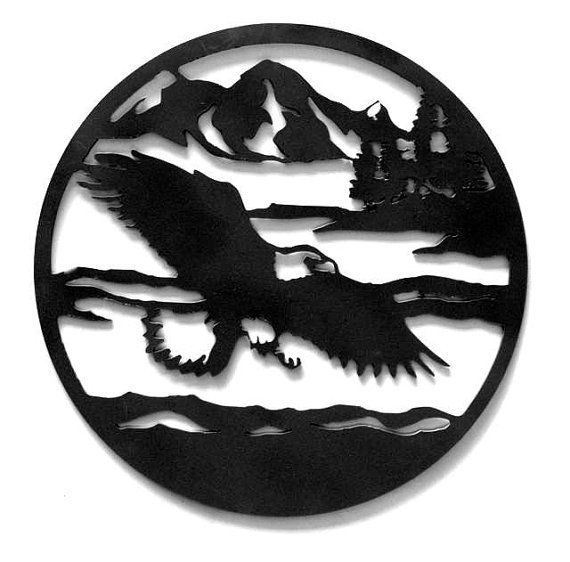 Round Soaring Eagle Custom Metal Sign by RillaBee on Etsy, $60.00