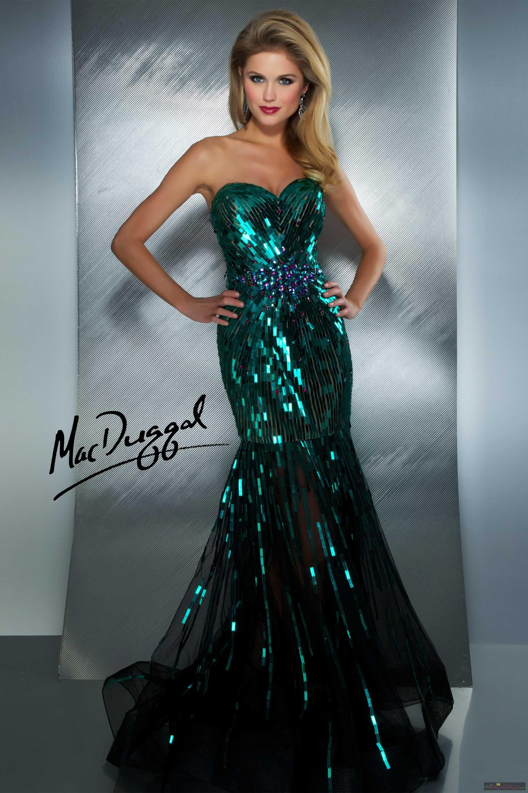 Mac Duggal Style 85089M - Mermaid dress with sweetheart neckline ...