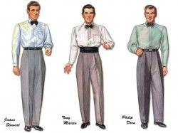 James Stewart, Tony Martin & Phillip Dorn paper dolls