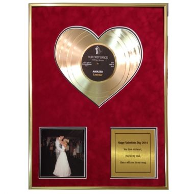 """Heart of Gold 12"""" Disc with Photo and Message"""