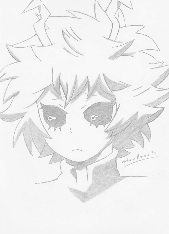 Mina Ashido My Hero Academia Traditional Anime Drawing