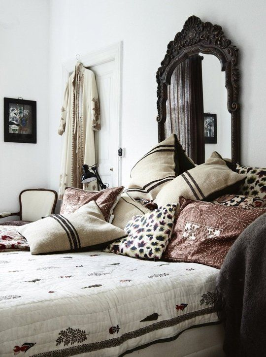 10 Unusual Things To Use As A Headboard Bohemian Style Bedrooms