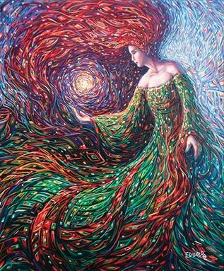 """Manifestación de Luz""/""Manifestation of Light"" Oleo sobre Lienzo / Oil on Canvas 60 cm. X 50 cm. / 23 in. X 19 in. 2013 ***Private Collection*** @[129080137151994:274:Eduardo Rodríguez Calzado / Artist]"