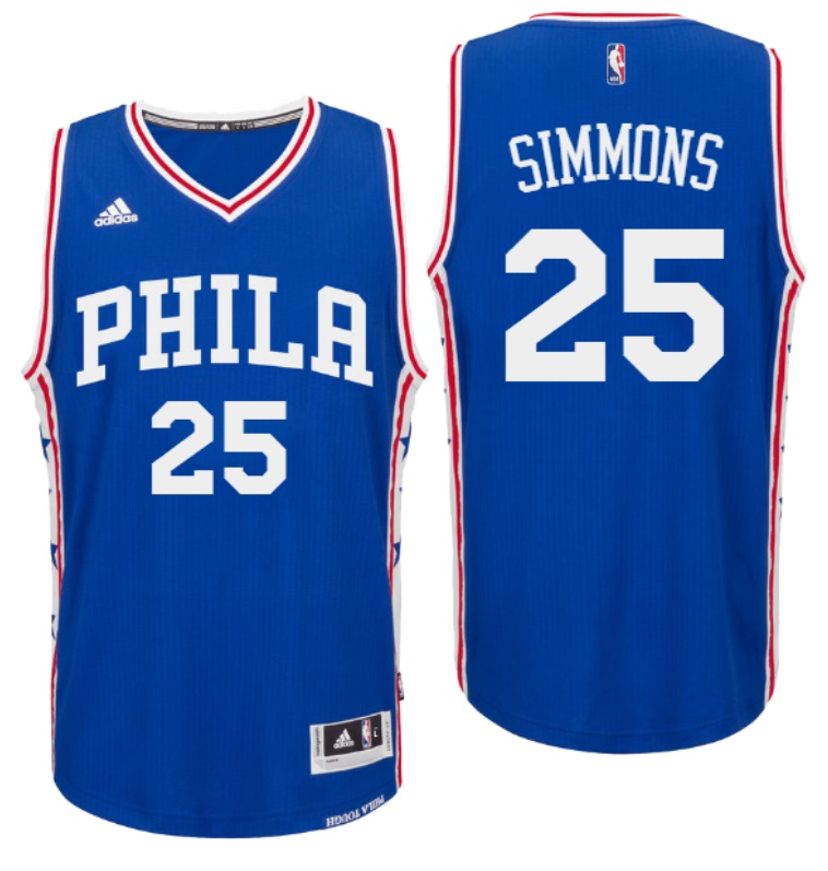 a64f288a 2016 Draft 76ers #25 Ben Simmons Home White Swingman Jersey ...