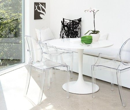 design louis george ghost chairs philippe starck and. Black Bedroom Furniture Sets. Home Design Ideas