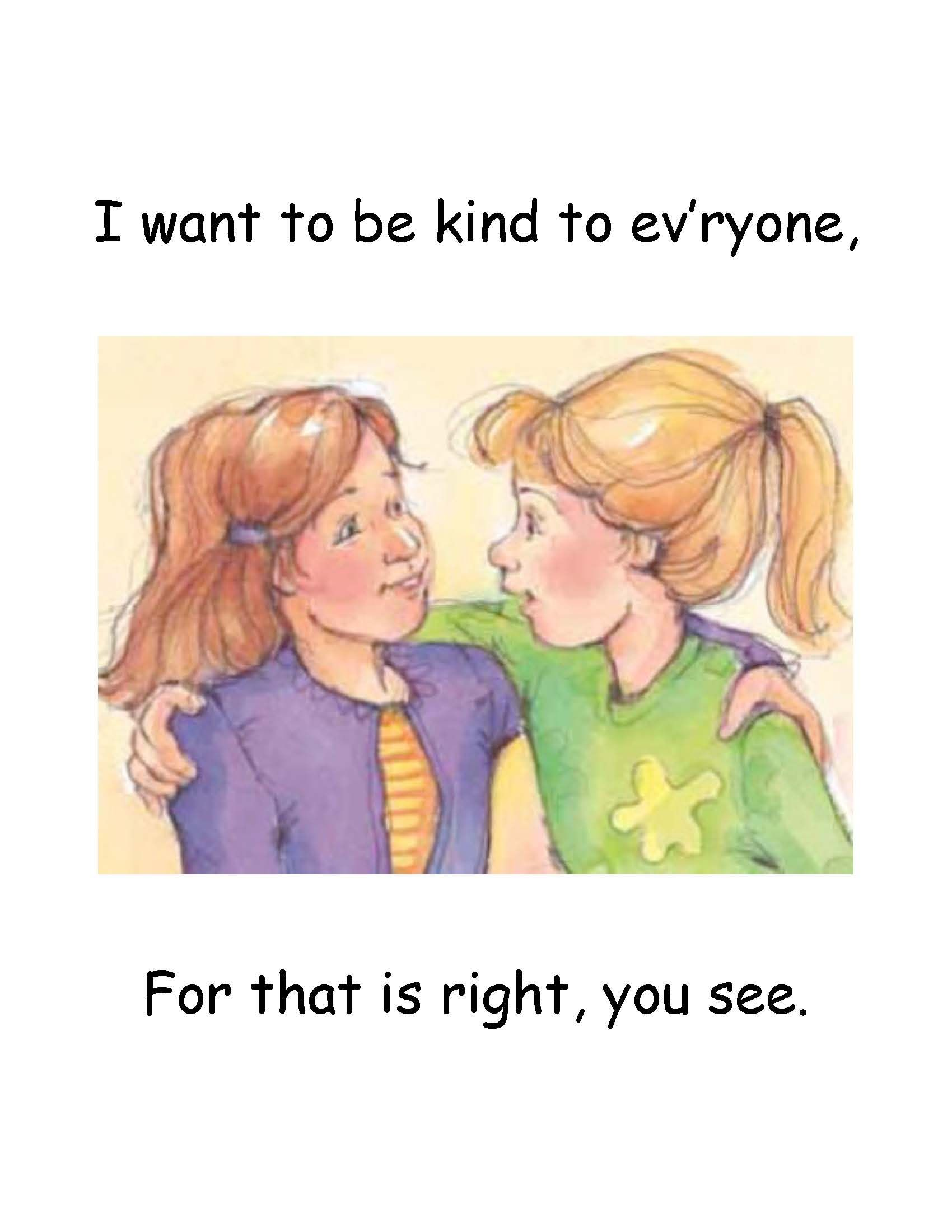 Kindness Begins with Me flip chart