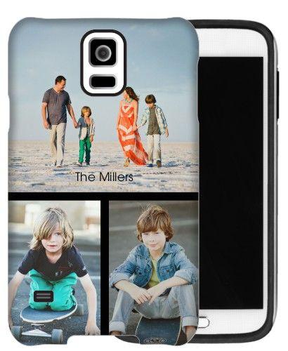 Gallery of Three Samsung Galaxy Case, Silicone liner case, Glossy, Samsung Galaxy S5, Black