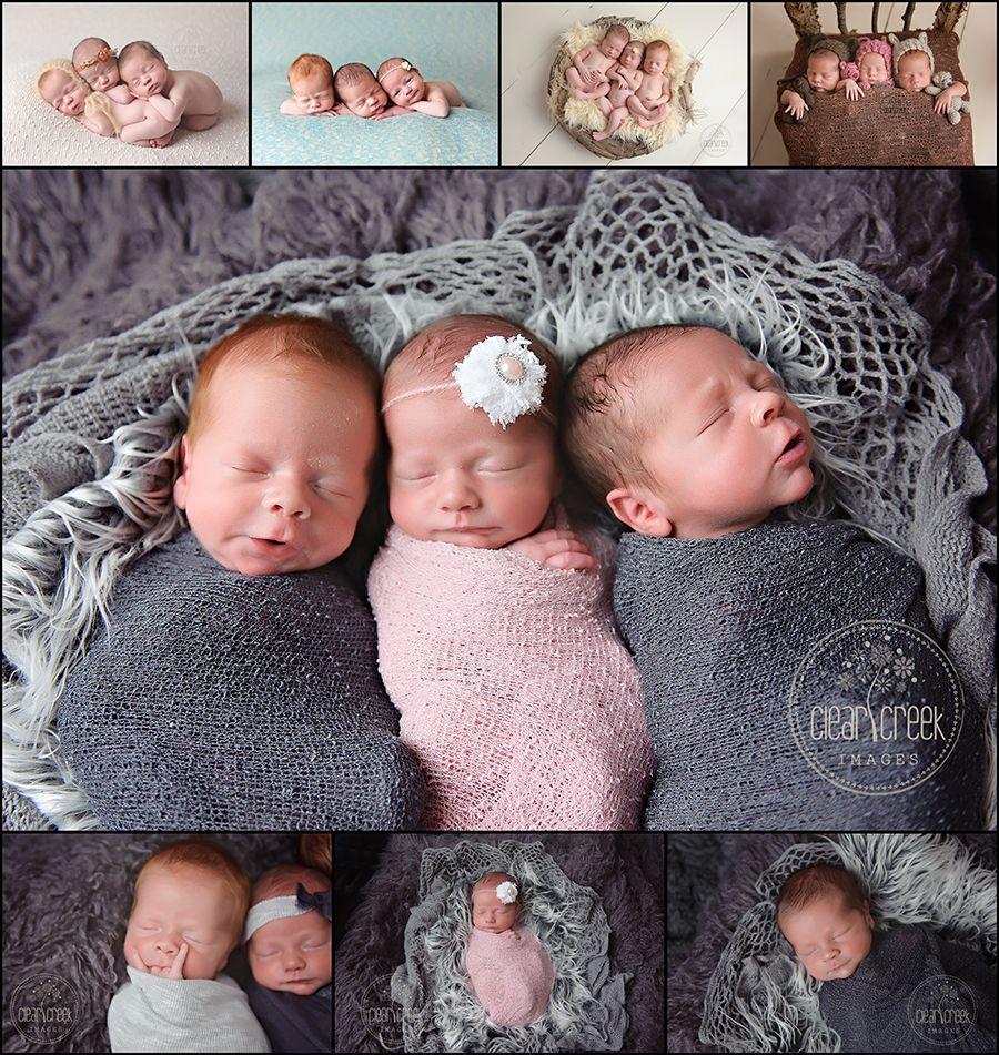Lightner Triplets Newborn Photographer Med Billeder Trillinger Tvillinger