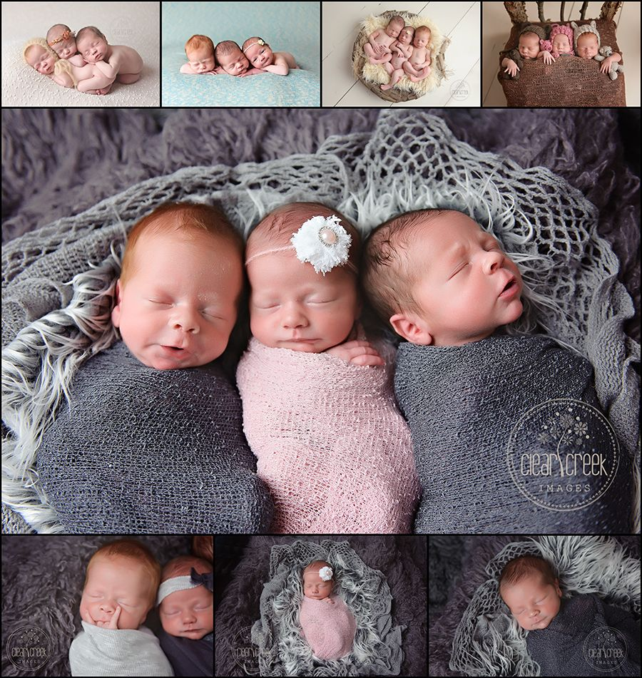 Triplets Newborn Photographer Roswell Marietta Canton