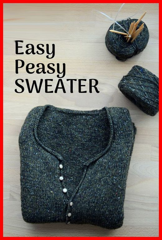 Photo of #knitting inspiration creative Simple Quick Easy Knit Pullover Sweater – Free Pa…