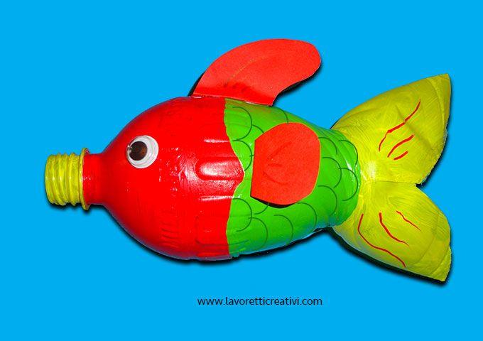 Lavoretti per bambini con bottiglie di plastica pesce lavorettiperbambini pinterest - Casa plastica per bambini ...