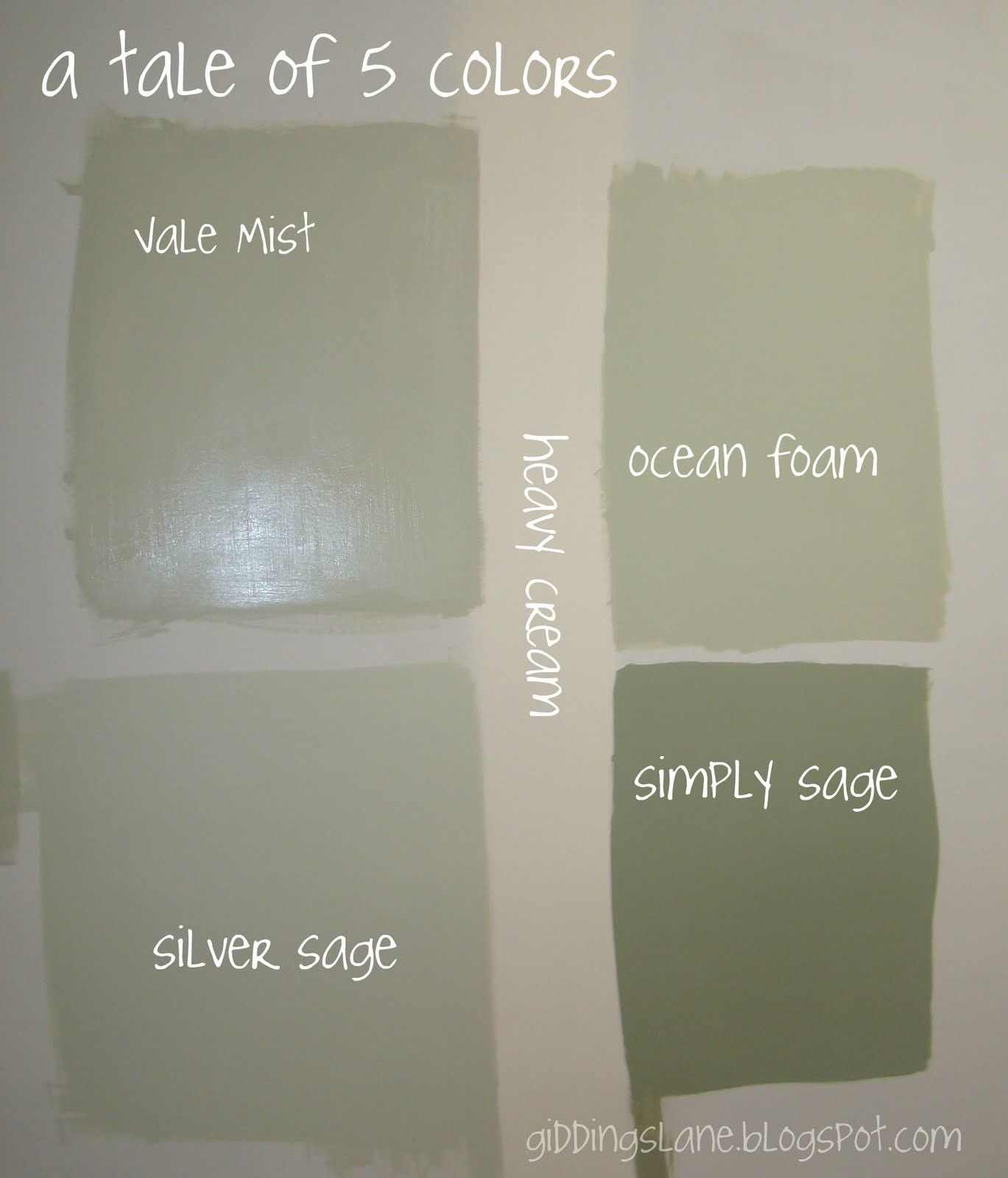 Giddings lane the finale to the 5 colors for the for Dark sage green paint color