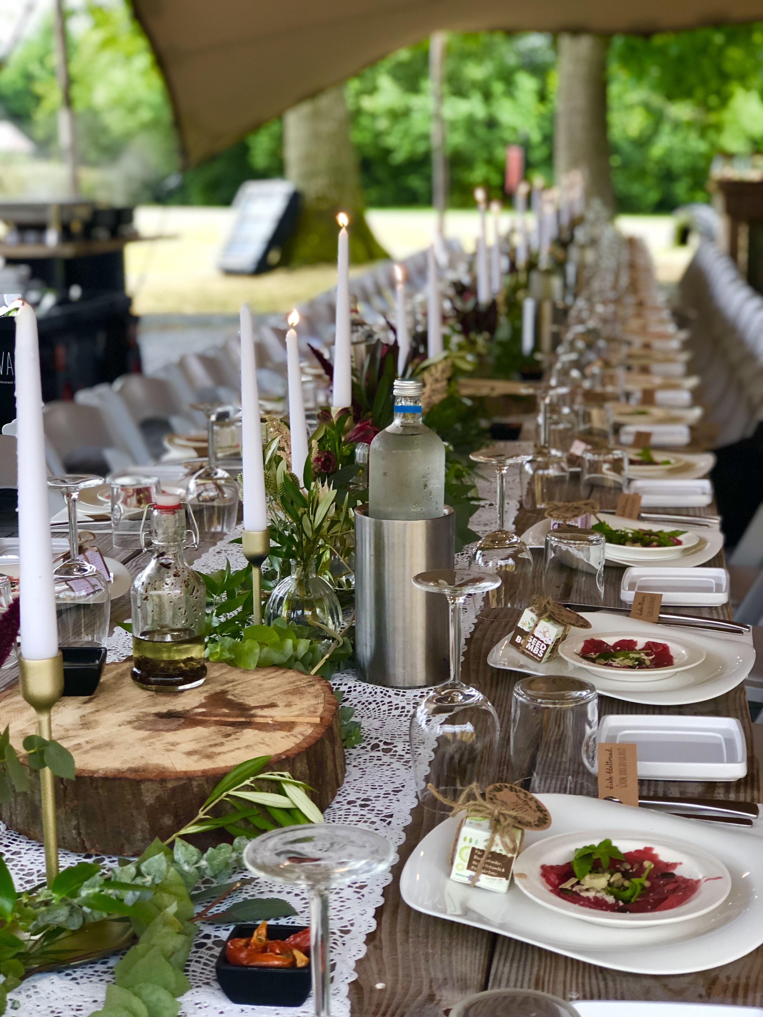 Long Table Diner Italiaans Feest Decoraties Buffet Bruiloft Italiaanse Bruiloft
