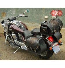 Baul Custom para Suzuki Intruder DOSKITAS Jefe Indio  Clasico
