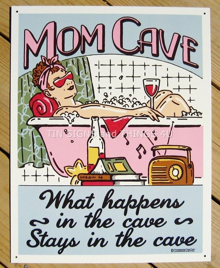 Mom Cave Often Under Appreciated Tin Metal Sign Vintage Wall Garage Classic