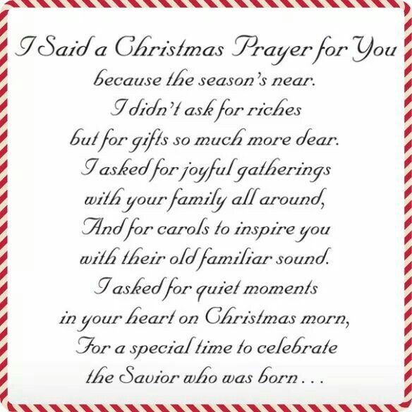 Christmas Prayer. | Christmas Quotes | Pinterest | Cards ...