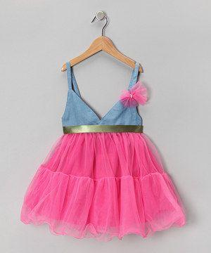 Love this Denim Top Garden Babydoll Dress - Toddler & Girls by Mia Belle Baby on #zulily! #zulilyfinds