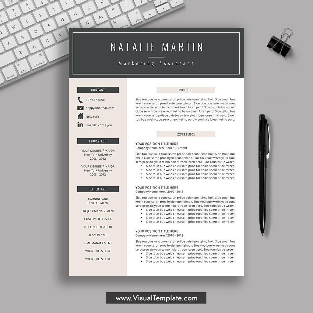 2020 2021 Pre Formatted Resume Template With Resume Icons Fonts