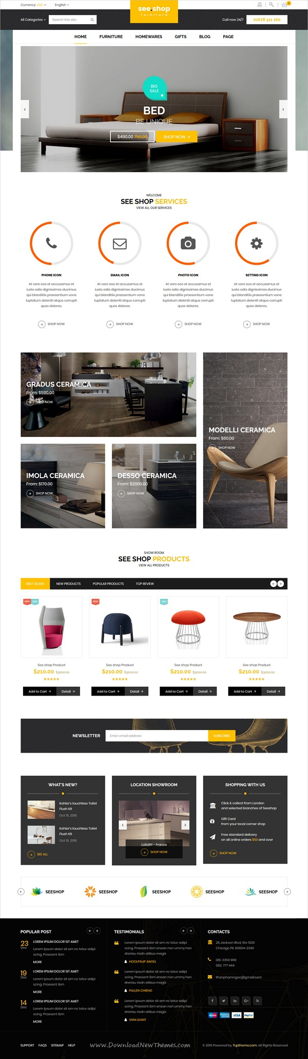 see.shop - Furniture RTL Responsive HTML Template   Template