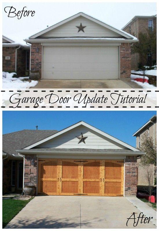 Ugly Garage Door Be Gone Carriage Door Tutorial Garage