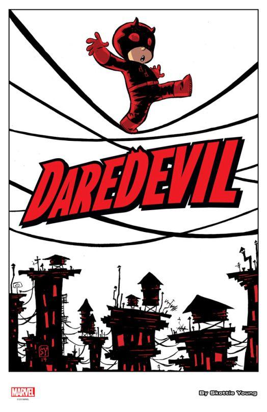 Daredevil cover by Skottie Young