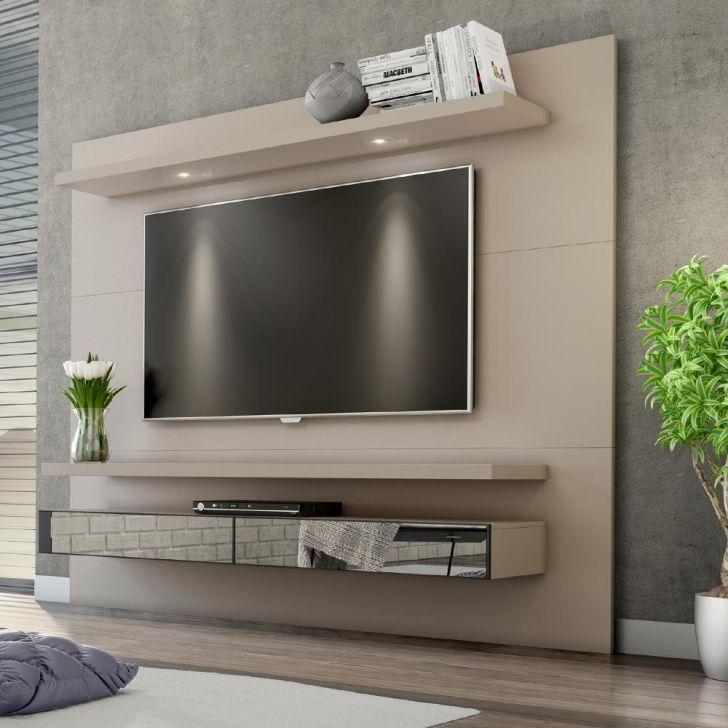 Painel Para Tv 220 Fendi Com Espelho Tb108e Dalla Costa Painel