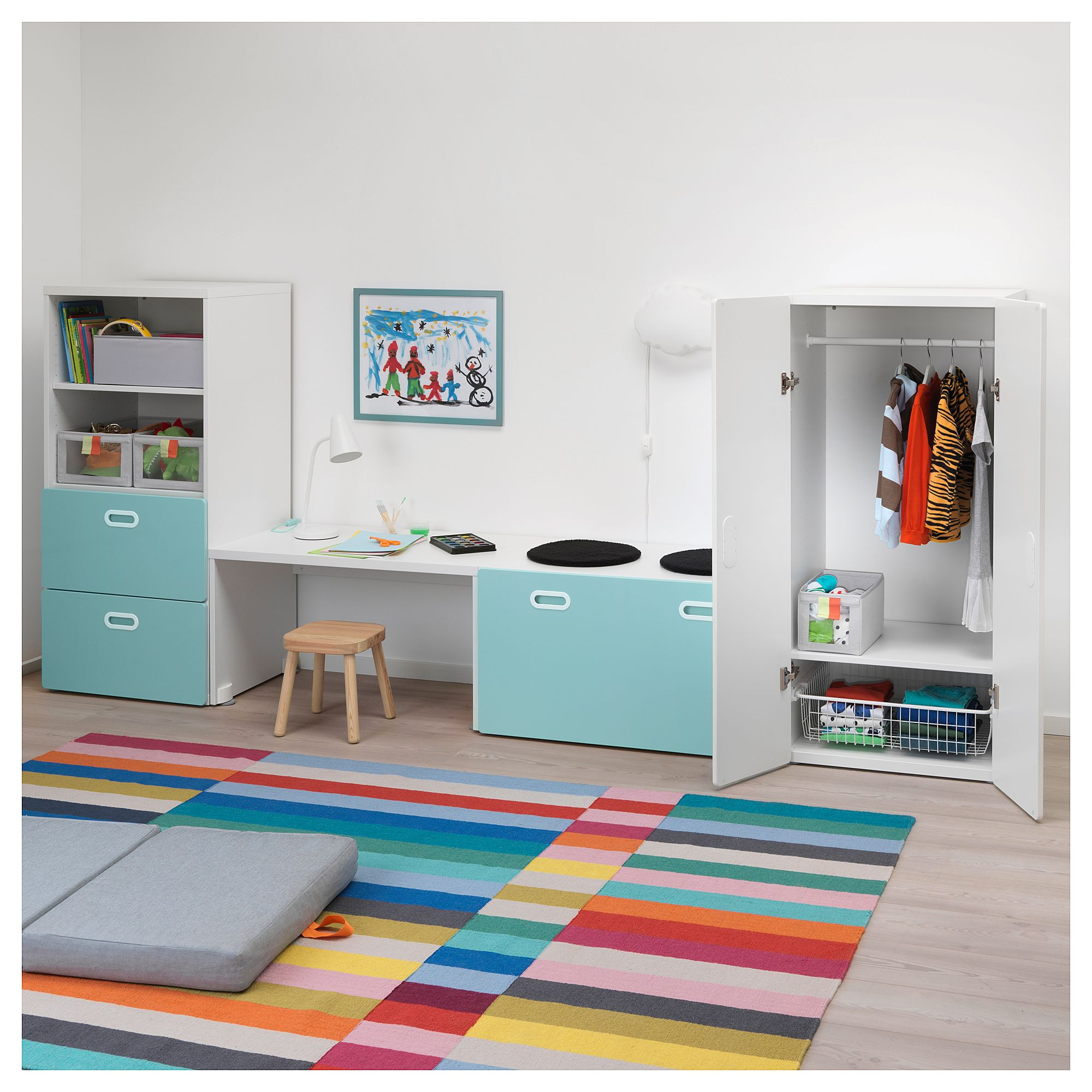 Ikea Kinderzimmer Stuva Planer Ikea Stuva Fritids Storage Combination White Light Blue