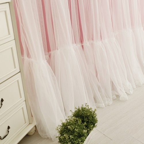 Shabby Chic Curtain Cottage Lace Tulle Sheer Luxury Princess