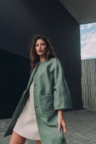 Cappotto Eleonora lana biologica naturale