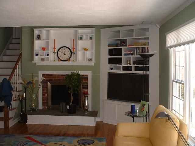 Pin by brenda greteman on for the home living room corner tv room for Tv corner cabinets living room