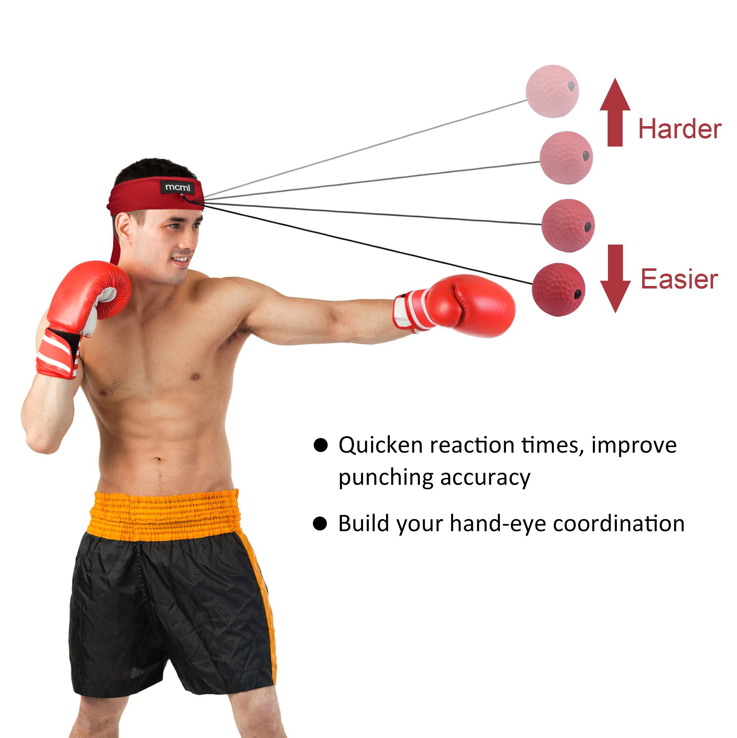 Footful Gel Reaction Ball Agility Coordination Reflex Exercise Training Red