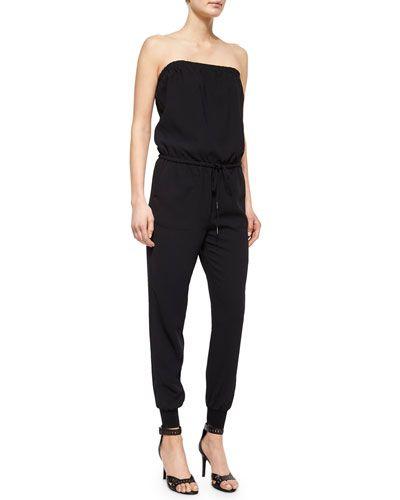 JOIE Joie Fairley Strapless Blouson Jumpsuit. #joie #cloth #