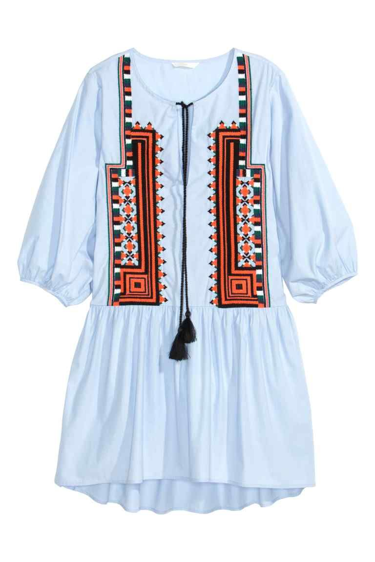 Embroidered cotton dress cotton bohemian and boho