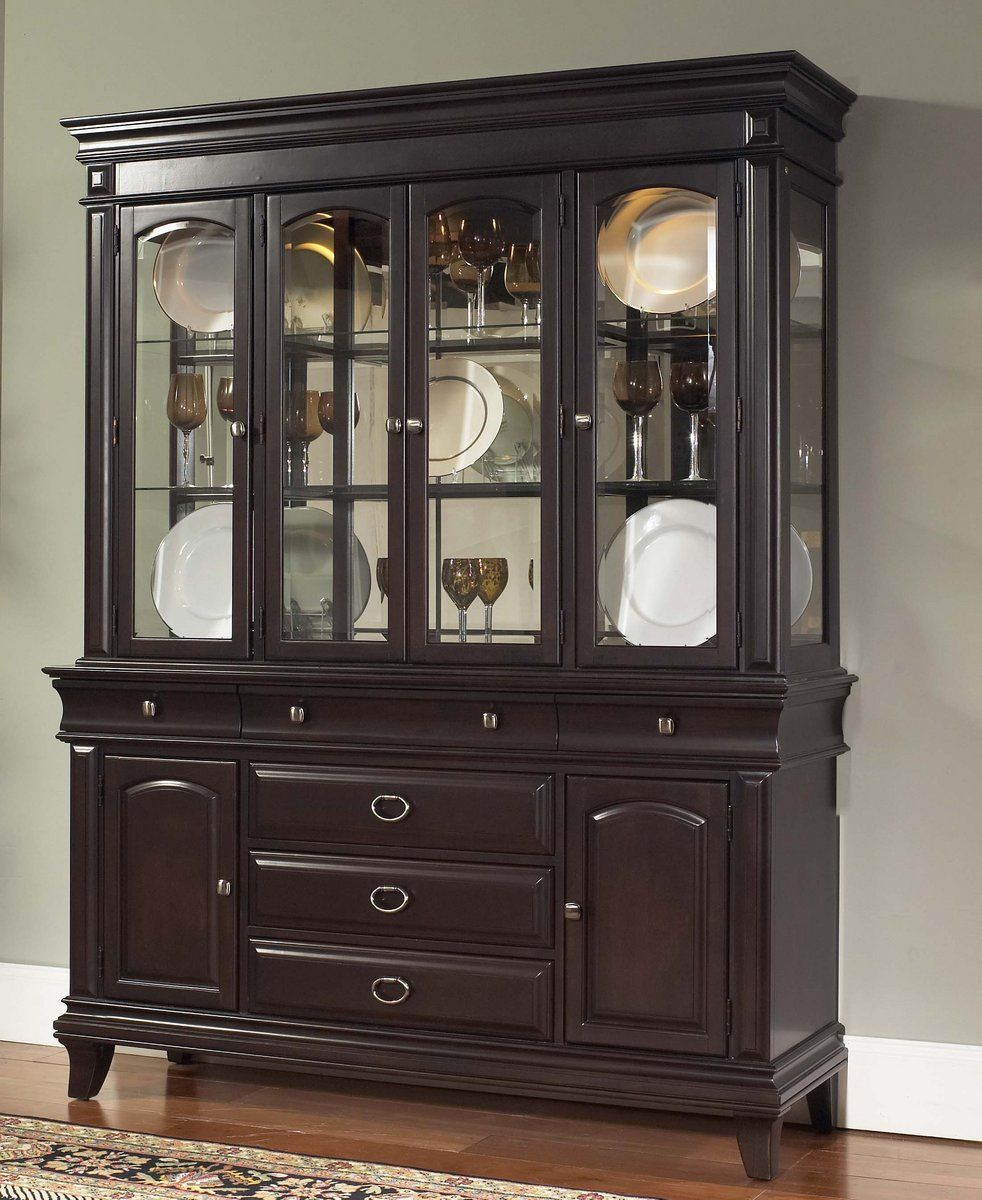 Kendall Dark Brown China Cabinets RH-8098-CHINA