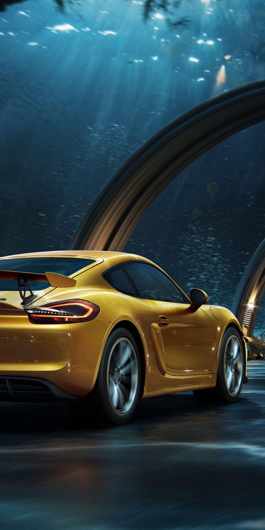 Porsche Yellow Digital Photography Tunnel 1080x2160 Wallpaper Car Wallpapers Porsche Best Luxury Cars