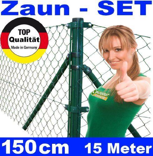 Maschendrahtzaun - SET 150 cm 15 Meter lang