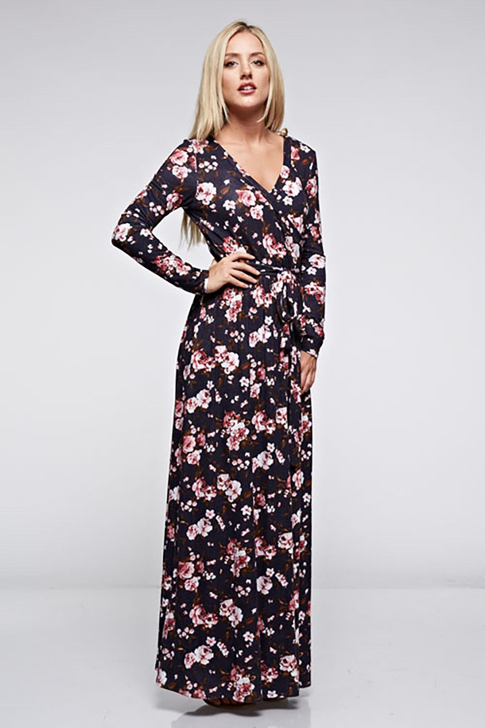 The Emma Floral Spring Maxi Dress