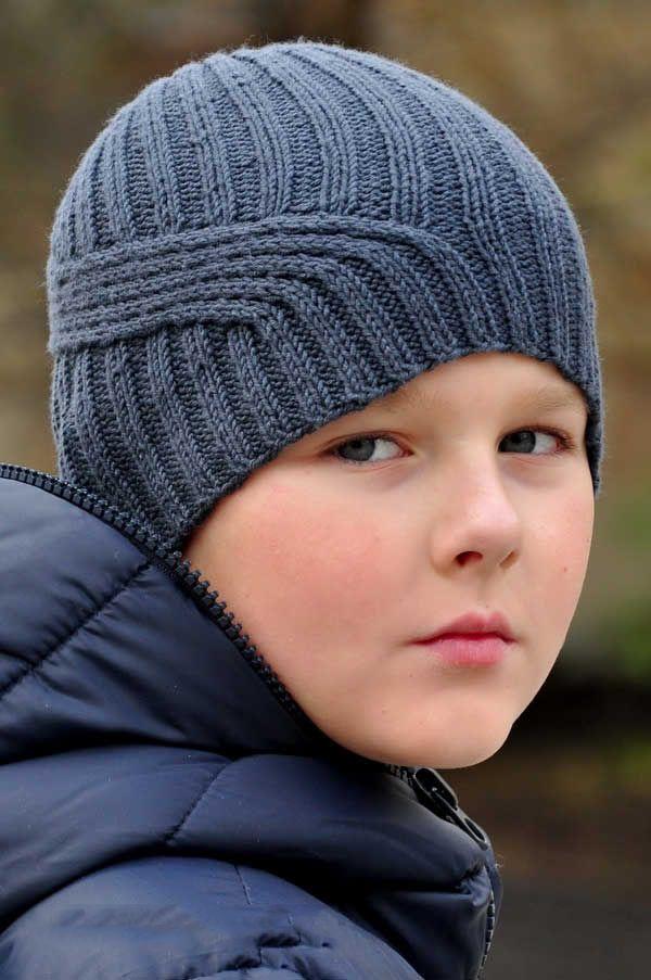 Вязаные шапки для мальчиков | Схемы вязания для начинающих ...