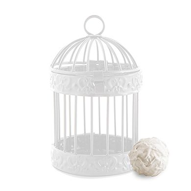 Miniature Classic Round Decorative Birdcages - White Christening