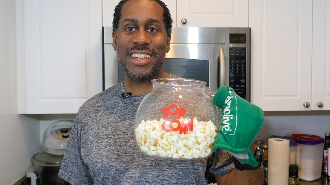 How to make healthy oil free microwave popcorn without a